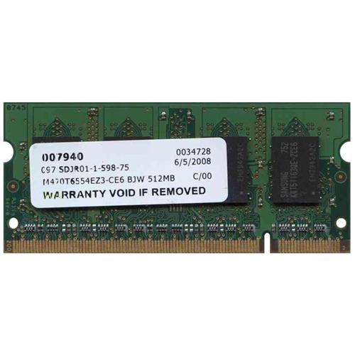BJW 512MB 200p PC2-5300 CL5 8c 32x16 DDR2-667 SODIMM T004
