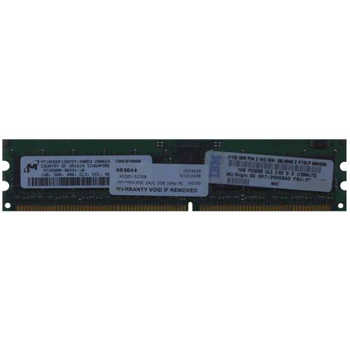 2AJC 1GBx2 184p PC3200 CL3 18c 128x4 Registered ECC DDR DIMM T027-39M5802