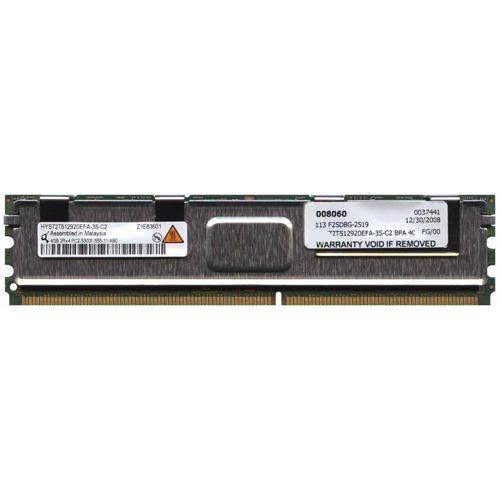 4GB 240p PC2-5300 CL5 36c 256x4 DDR2-667 2Rx4 1.8V ECC FBDIMM w/ Extra Label RFB