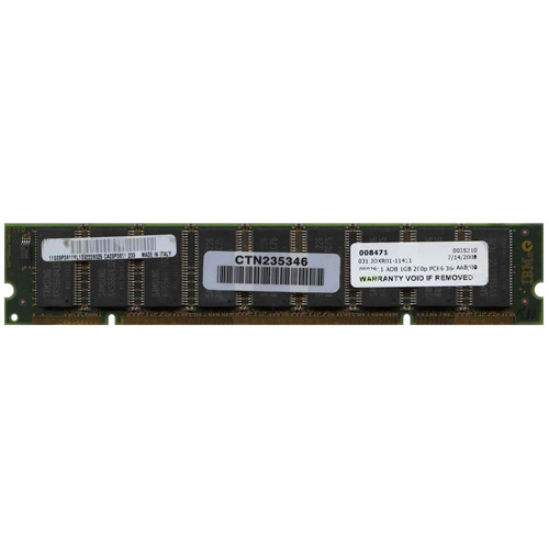 IBM 09P3811 1GB 200p PC66 36c 64x4 ECC SDRAM DIMM-1/2 IBM 4137 RFB