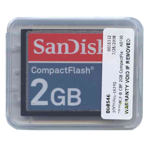 SanDisk SDCFB-2048 2GB 50p CF Red/Light Blue/Blue Compact Flash Card Bulk w/ SN RFB