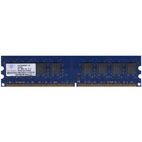 Nanya NT1GT64U8HB0BY-37B 1GB 240p PC2-4200 CL4 16c 64x8 DDR2-533 DIMM T007-RFB