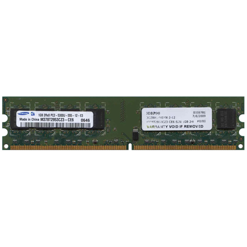 Samsung M378T2953CZ3-CE6 BZN 1GB 240p PC2-5300 CL5 16c 64x8 DDR2-667 DIMM T007-RFB w/ Extra Label