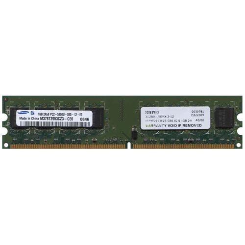 1GB 240p PC2-5300 CL5 16c 64x8 DDR2-667 DIMM T007-RFB w/ Extra Label