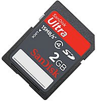 SanDisk SDSDH-002G-P36 BXQ 2GB 9p SD Secure Digital Card 24x