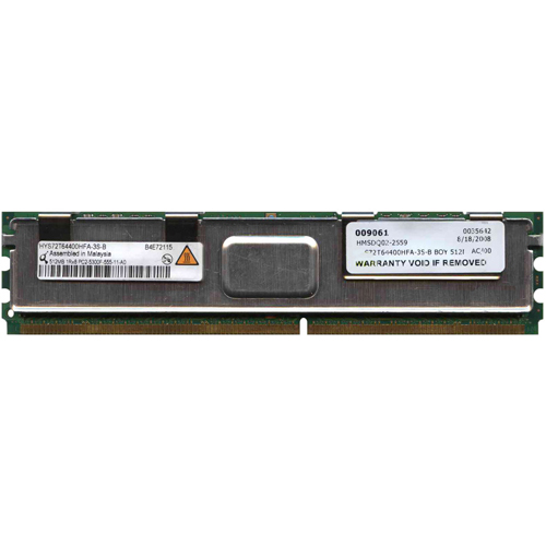 Qimonda HYS72T64400HFA-3S-B 512MB 240p PC2-5300 CL5 9c 64x8 Fully Buffered ECC DDR2-667 FBDIMM RFB