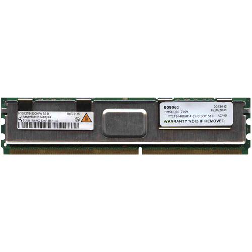512MB 240p PC2-5300 CL5 9c 64x8 Fully Buffered ECC DDR2-667 FBDIMM RFB