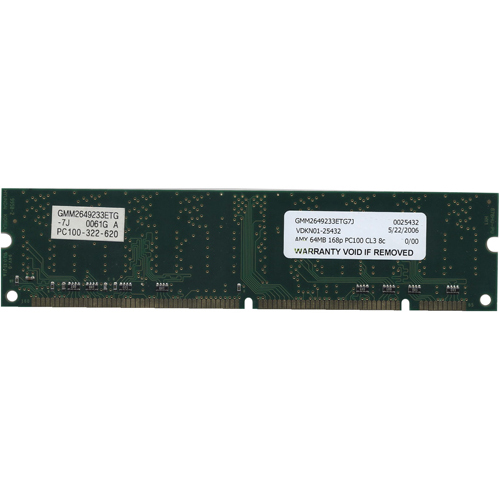 GoldStar GMM2649233ETG-7J 64MB 168p PC100 CL3 8c 8x8 SDRAM DIMM-RFB Japan