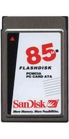SanDisk SDP3B-85 85MB 68P PCMCIA ATA Flash Card Bulk