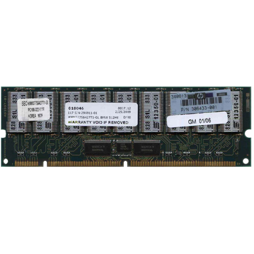 Samsung KMM377S6427T1-GL BMW 512MB 168p PC100 CL3 36c 32x4 Registered ECC SDRAM DIMM-RFB