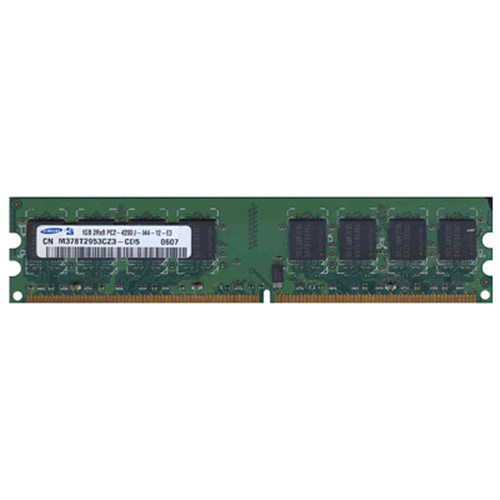 Samsung M378T2953CZ3-CD5 1GB 240p PC2-4200 CL4 16c 64x8 DDR2-533 DIMM RFB