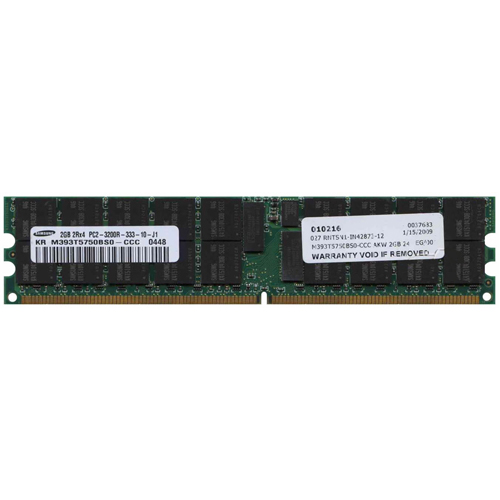 Samsung M393T5750BS0-CCC AKW 2GB 240p PC2-3200 CL3 36c 128x4 Registered ECC DDR2-400 DIMM  RFB Korea