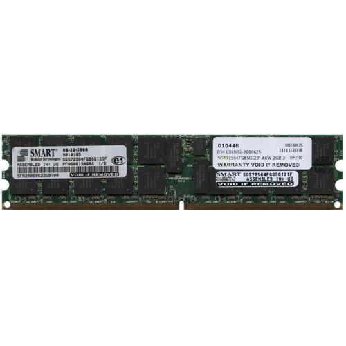2GB 240p PC2-3200 CL3 36c 128x4 DDR2-400 2Rx4 1.8V ECC RDIMM RFB not for Xeon