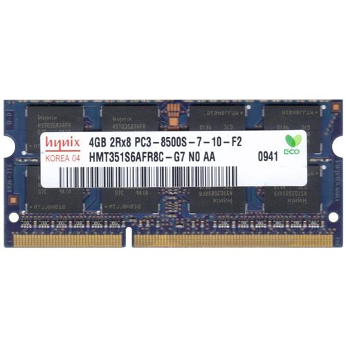 4GB 204p PC3-8500 CL7 16c 256x8 DDR3-1066 2Rx8 1.5V SODIMM RFB