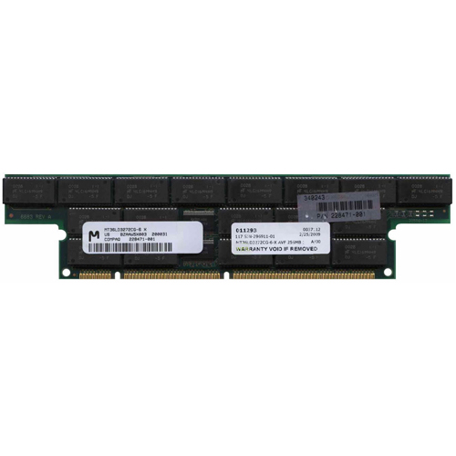 Micron MT36LD3272CG-6-X AVF 256MB 168p 60ns 36c 16x4 4K Buffered ECC EDO DIMM T-Shaped ProLiant 5500