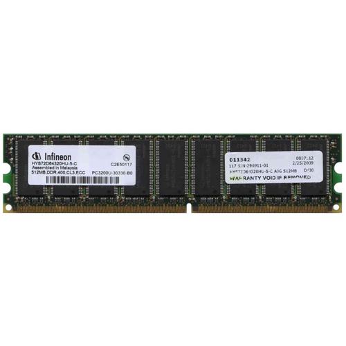 AJG 512MB 184p PC3200 CL3 18c 32x8 ECC DDR DIMM-RFB