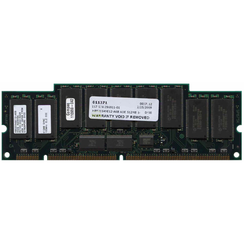 Hitachi HB52E649E12-A6B 512MB 168p PC100 CL2 18c 64x4 SDRAM 2Rx4 3.3V ECC RDIMM 1.75in-RFB