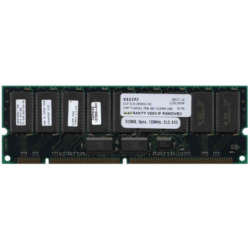 Hitachi HB52F649E1-75B 512MB 168p PC133 CL3 18c 64x4 1Rx4 3.3V ECC RDIMM 1.75in-RFB