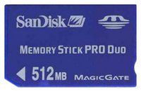 SanDisk SDMSPD-512 BVH 512MB 10p Memory Stick Pro Duo Blue w/o Adapter Bulk