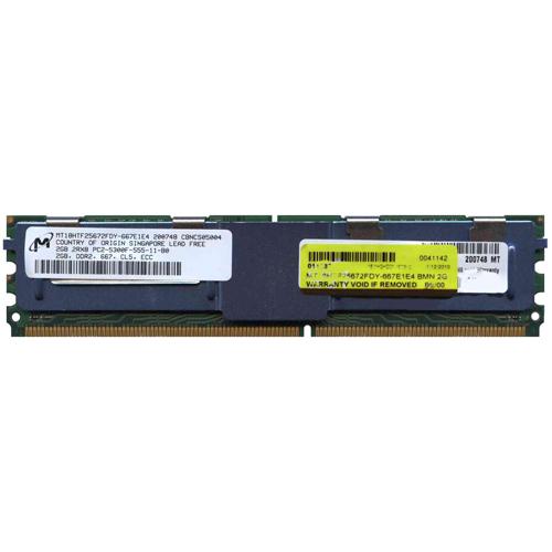 2GB 240p PC2-5300 CL5 18c 128x8 DDR2-667 2Rx8 1.8V ECC FBDIMM W/Crucial Label RFB