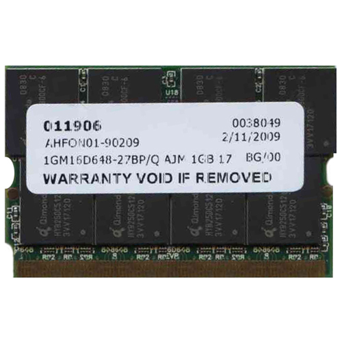 Qimonda/3rd 1GM16D648-27BP/Q AJM 1GB 172p PC2700 CL2.5 16c 64x8 DDR MicroDIMM