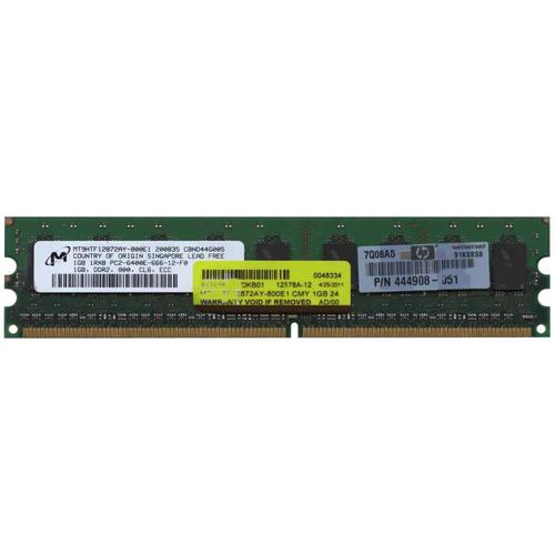 1GB 240p PC2-6400 CL6 9c 128x8 ECC DDR2-800 DIMM RFB w/ HP label