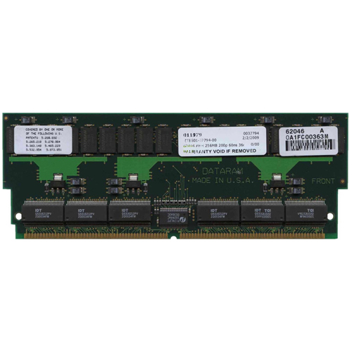 Dataram 62046 256MB 200p 60ns 36c 8x8 8K Buffered ECC FPM DIMM (X7005A) -RFB USA