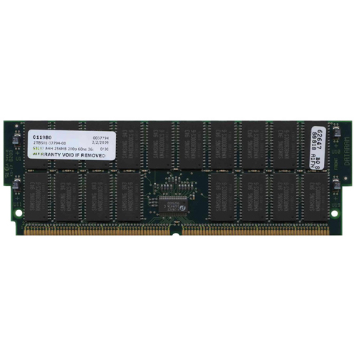 Dataram 62647 256MB 200p 60ns 36c 8x8 8K Buffered ECC FPM DIMM (X7005A) -RFB USA