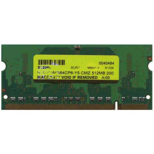 512MB 200p PC2-5300 CL5 4c 64x16 DDR2-667 1Rx16 1.8V SODIMM-RFB