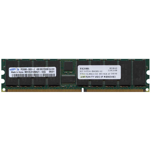 Samsung M312L5128AU1-CCC 4GB 184p PC3200 CL3 36c 256x4 Registered ECC DDR DIMM-RFB Korea RoHS