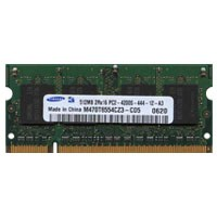 Samsung M470T6554CZ3-CD5 512MB 200p PC2-4200 CL4 8c 32x16 DDR2-533 SODIMM T004 RFB