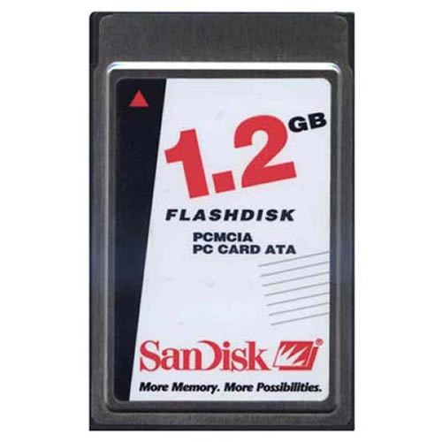 SanDisk SDP3B-1280-101-50 DGO 1.2GB PCMCIA ATA Flash Card Bulk