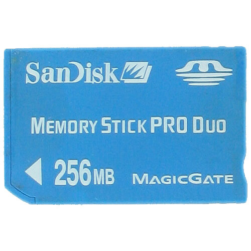 SanDisk SDMSPD-256 256MB 10p Memory Stick Pro Duo w/o adapter Bulk