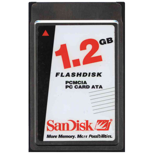 SanDisk SDP3B-1280-101-50B 1.2GB PCMCIA ATA Flash Card Bulk