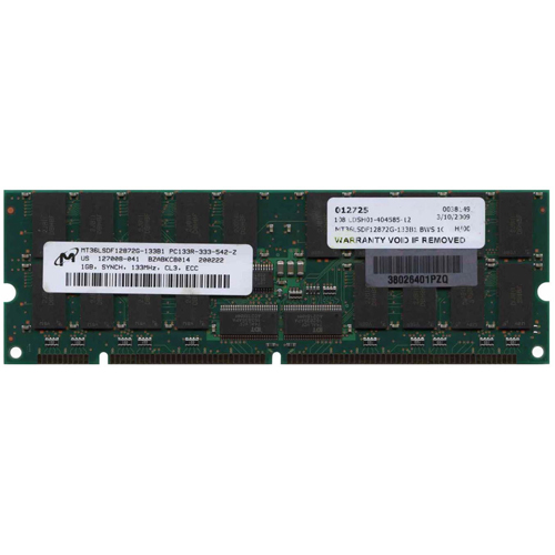 BWS 1GB 168p PC133 CL3 36c 64x4 Registered ECC SDRAM DIMM fBGA SUN T011 RFB U.S