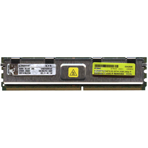 Kingston KVR667D2D4F5/2G BTW 2GB 240p PC2-5300 CL5 36c 128x4 DDR2-667 2Rx4 1.8V ECC FBDIMM