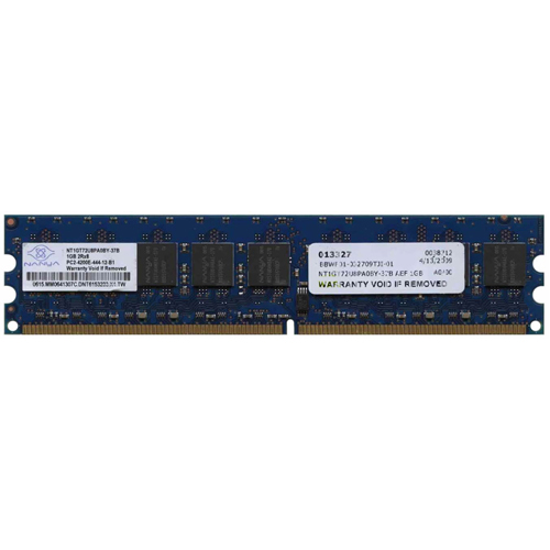 Nanya NT1GT72U8PA0BY-37B 1GB 240p PC2-4200 CL4 18c 64x8 DDR2-533 2Rx8 1.8V ECC DIMM