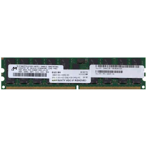 4GB 240p PC2-5300 CL5 36c 256x4 DDR2-667 2Rx4 1.8V ECC RDIMM Sun X4227A-Z