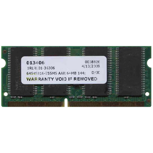 64MB 144p PC133 CL3 4c 8x16 SDRAM SODIMM