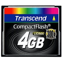 Transcend TS4GCF300 4GB 50p CF CompactFlash Card 300X Retail