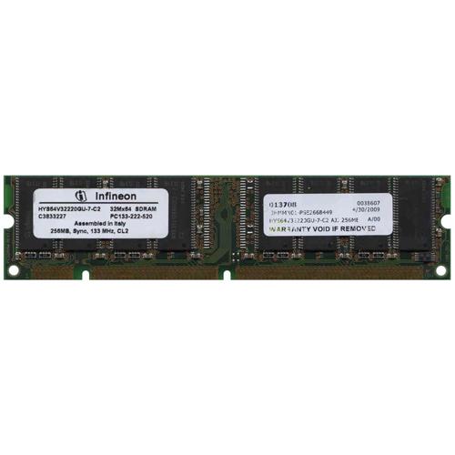 256MB 168p PC133 CL2 16c 16x8 SDRAM DIMM RFB Italy