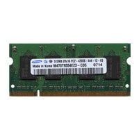 Samsung M470T6554EZ3-CD5 AIT 512MB 200p PC2-4200 CL4 8c 32x16 DDR2-533 SODIMM T004-NOB Korea RoHs HP