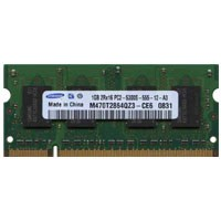 Samsung M470T2864QZ3-CE6 1GB 200p PC2-5300 CL5 8c 64x16 DDR2-667 2Rx16 1.8V SODIMM RFB W/Mix label