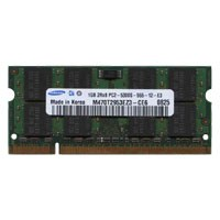 Samsung M470T2953EZ3-CE6 BJV 1GB 200p PC2-5300 CL5 16c 64x8 DDR2-667 SODIMM Apple MacBook Pro RFB