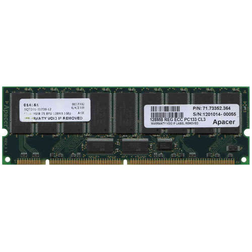 Gigaram 128R18S88-75 128MB 168p PC133 CL3 18c 8x8 Registered ECC SDRAM DIMM