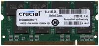 1GB 200p PC2700 CL2.5 16c 64x8 DDR333 2.5V SODIMM RFB U.S