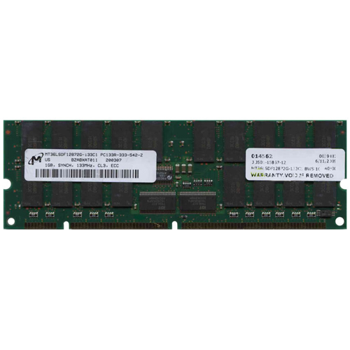 Micorn MT36LSDF12872G-133C1 BWS 1GB 168p PC133 CL3 36c 64x4 Registered ECC SDRAM DIMM fBGA T011 1.75