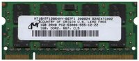Micron MT16HTF12864HY-667F1 1GB 200p PC2-5300 CL5 16c 64x8 DDR2-667 SODIMM