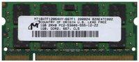 1GB 200p PC2-5300 CL5 16c 64x8 DDR2-667 SODIMM
