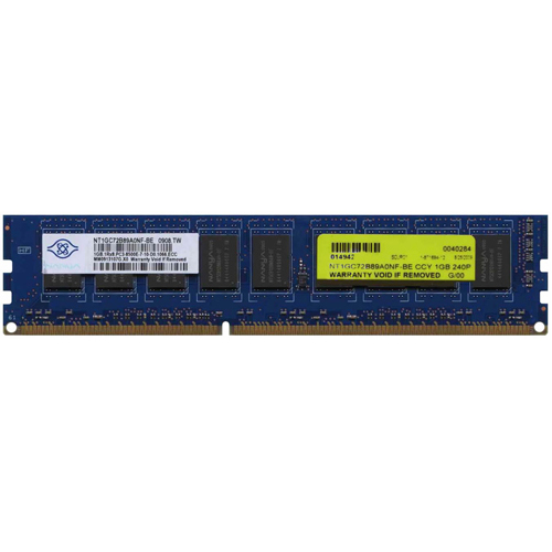 Nanya NT1GC72B89A0NF-BE 1GB 240P PC3-8500 CL7 9c 128x8 DDR3-1066 ECC DIMM NOB